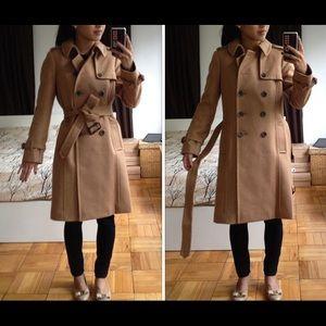 JCrew Wool/Cashmere Camel Coat (Size 00)